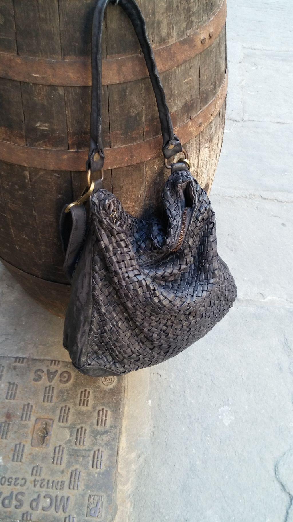 a basso prezzo f57f3 b35f3 FL2016 BORSA A SPALLA INTRECCIATA A MANO - Florence Leather ...