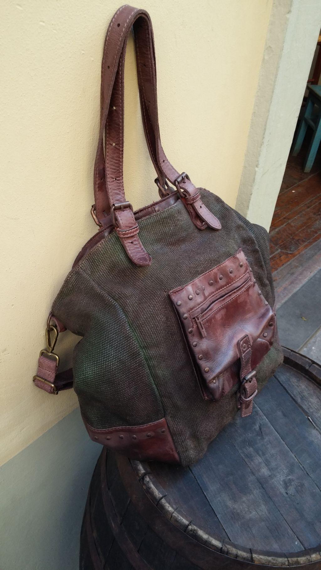 FL1014-borsa-shopping-vitello-tessuto-militare-3