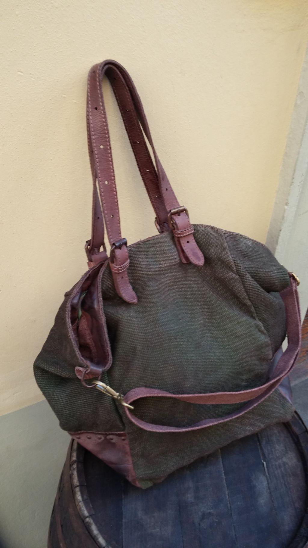 FL1014-borsa-shopping-vitello-tessuto-militare-4