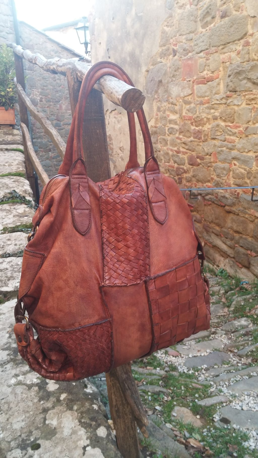 c72f536c9413f FL2018 BORSA PATCHWORK IN PELLE DI MONTONE - Florence Leather House